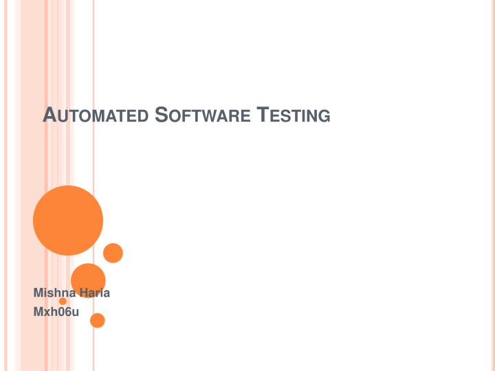 automated software testing n.