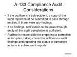 a 133 compliance audit considerations1