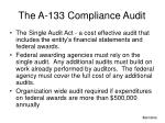 the a 133 compliance audit