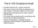 the a 133 compliance audit1