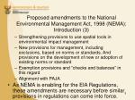 proposed amendments to the national environmental management act 1998 nema introduction 3