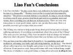 liao fan s conclusions