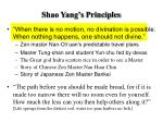 shao yang s principles