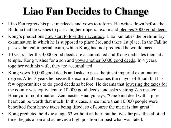 Liao Fan Decides to Change