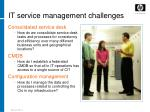 it service management challenges