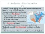 ii settlement of north america