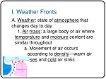 i weather fronts