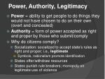 power authority legitimacy