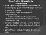 state nation sovereignty government