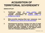 acquisition of territorial sovereignty