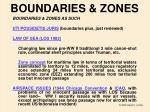 boundaries zones