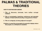 palmas traditional theories