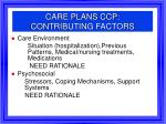 care plans ccp contributing factors