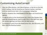 customizing autocorrect