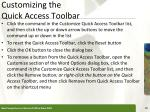 customizing the quick access toolbar1