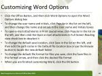 customizing word options