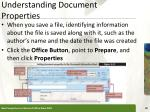 understanding document properties