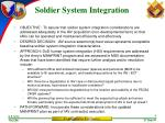 soldier system integration