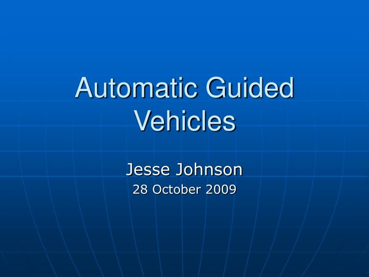 automatic guided vehicles n.