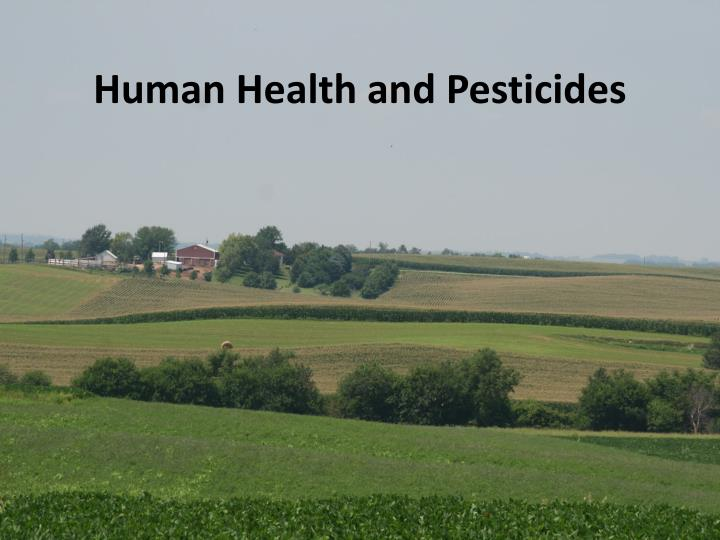 human health and pesticides n.