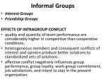 informal groups