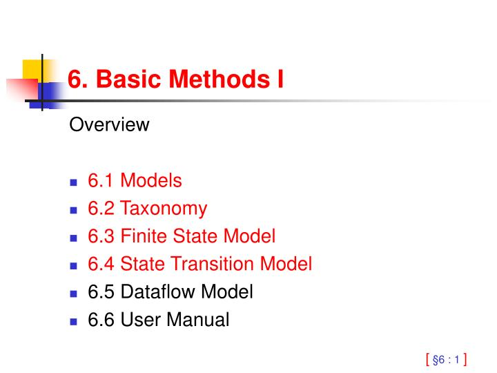 6. Basic Methods I