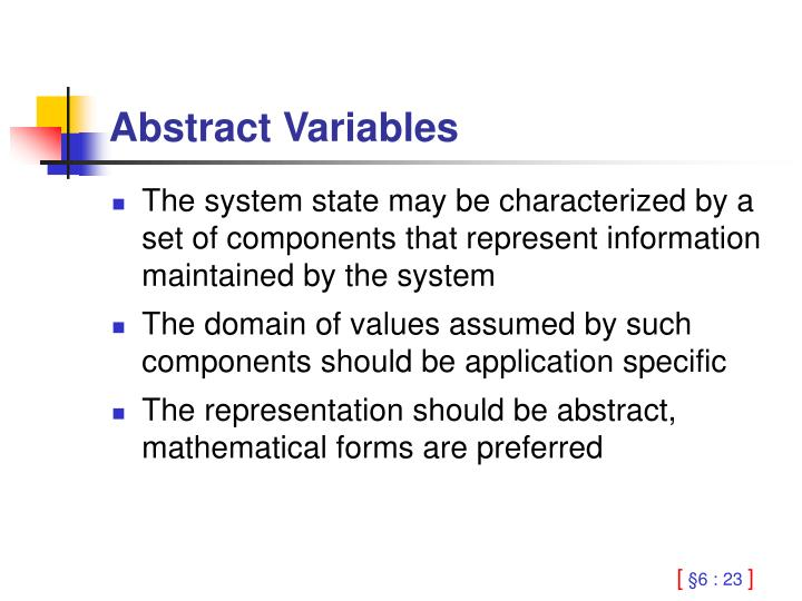 Abstract Variables