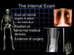 the internal exam