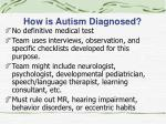 how is autism diagnosed
