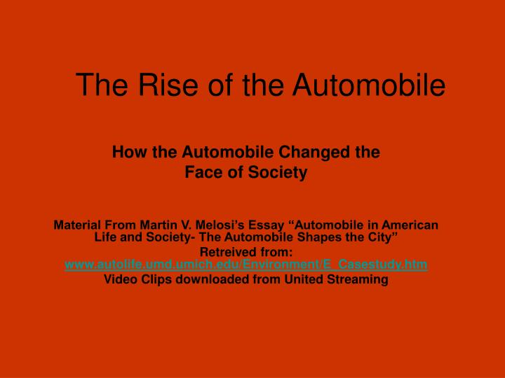 the rise of the automobile n.