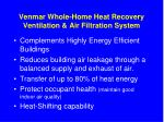 venmar whole home heat recovery ventilation air filtration system