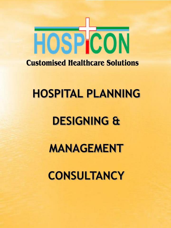hospital planning designing management consultancy n.