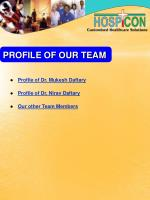 profile of our team