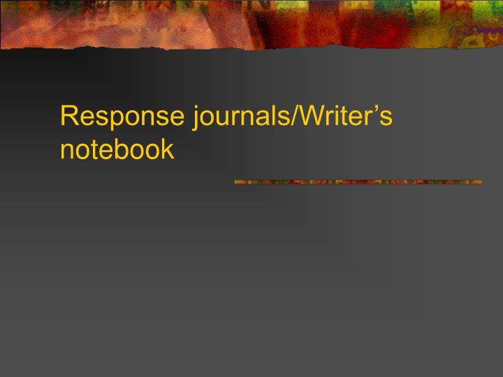 response journals writer s notebook n.