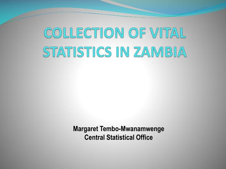 collection of vital statistics in zambia n.