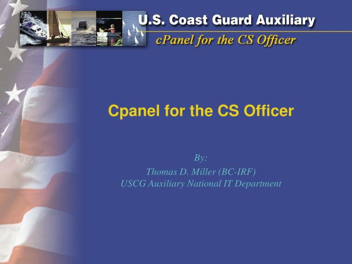 cpanel for the cs officer n.