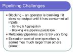 pipelining challenges