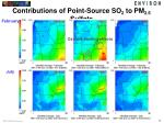 contributions of point source so 2 to pm 2 5 sulfate1