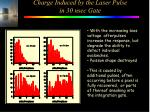 charge induced by the laser pulse in 30 nsec gate