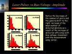 laser pulses vs bias voltage amplitude