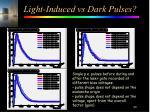 light induced vs dark pulses