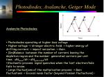 photodiodes avalanche geiger mode1