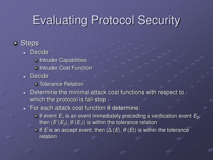 Evaluating Protocol Security