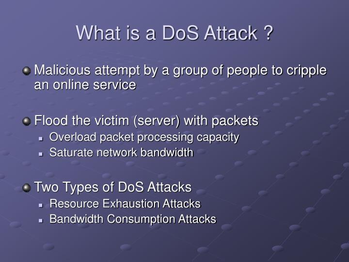 What is a dos attack
