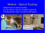 method optical tracking
