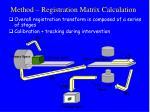 method registration matrix calculation