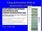 using deformation fields in neuroscience research
