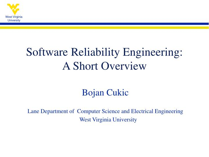 software reliability engineering a short overview n.