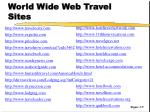 world wide web travel sites