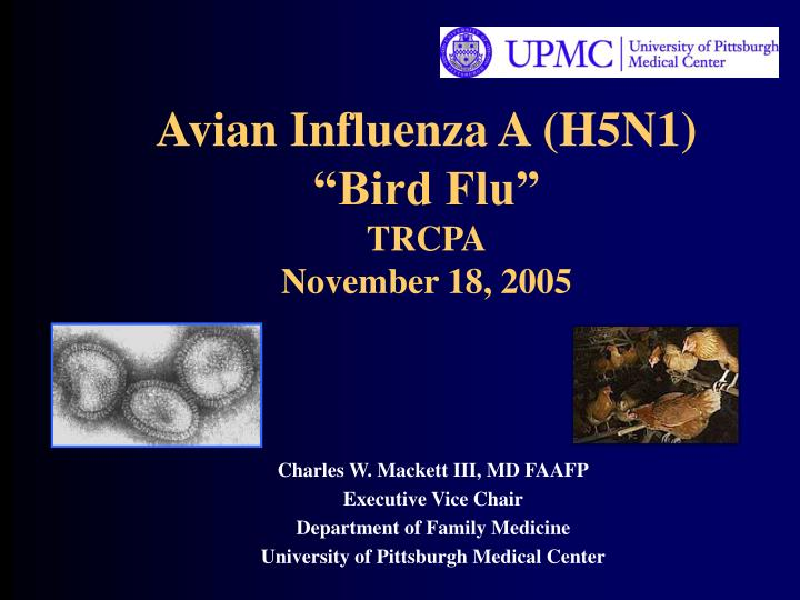 avian influenza a h5n1 bird flu trcpa november 18 2005 n.